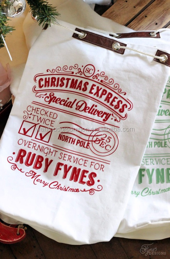 Personalized Christmas Mail Santa Sack Bag for Kids