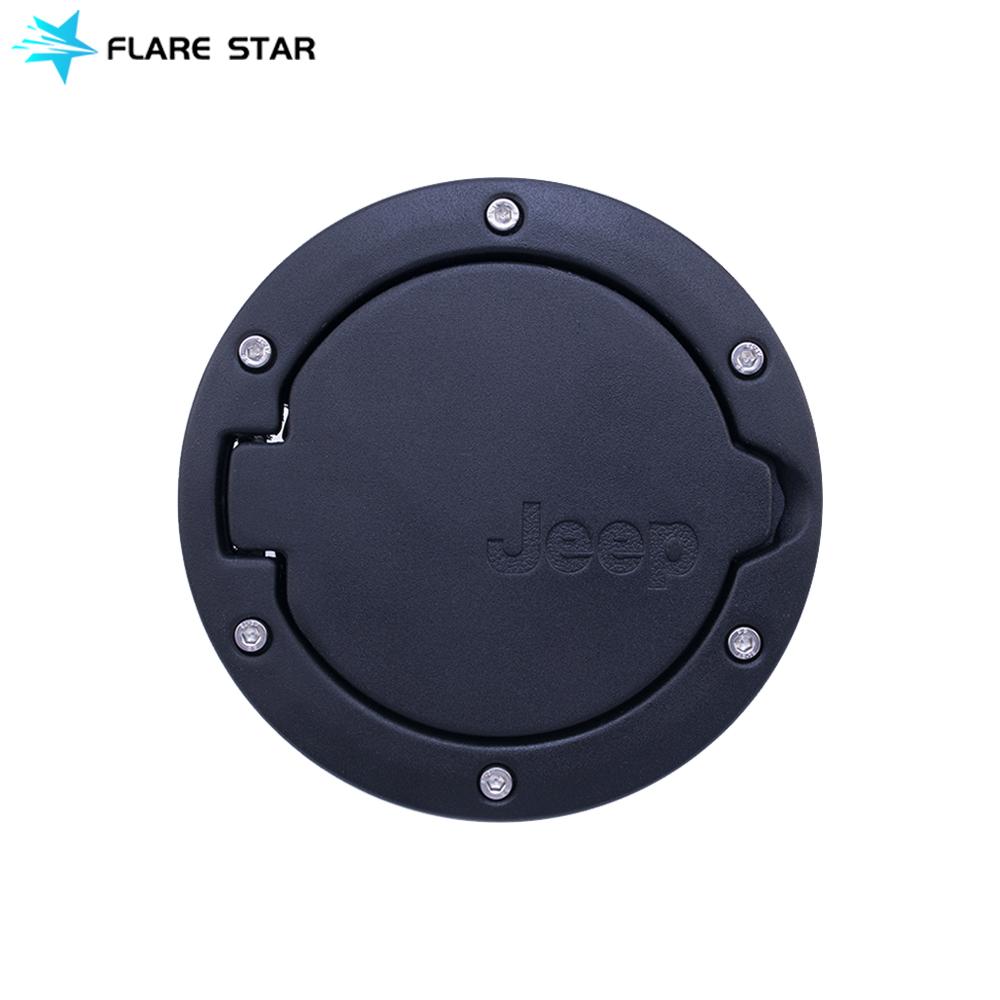 Fuel Filler Door Cover, Fuel Tanks Cap for JK 07-16, Jeep Wrangler Auto Accessories Gas Door Cover