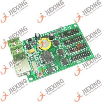 HC-1 Async USB full color controller 384*64 192*128 4*HUB75 Design for small size LED display Mini RGB LED controller