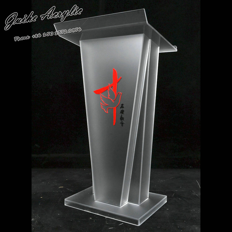 GUIHEYUN shenzhen Factory sale church pulpit school furniture acrylic table glass lectern