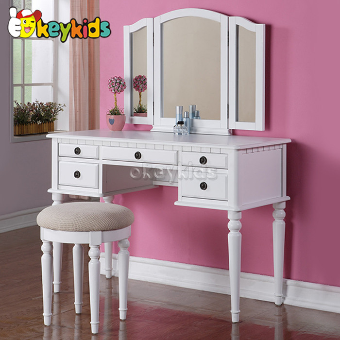 2016 Wholesale Kids Wooden Dressing Table Mirror With Drawer Cheap