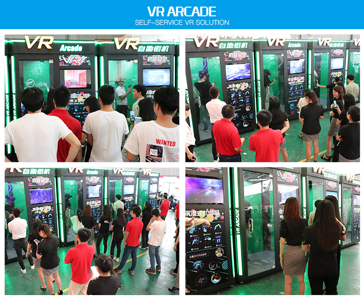2020 Latest Easy Earn Money Coin Operated Self Service Virtual Reality VR Arcade Game Machine with CE RoHS