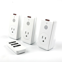 Home 3 Way Wall Smart Electric Switch With Remote Control