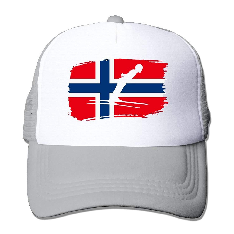 cb4de808d7e Get Quotations · DO9ds Hat Norwegian Flag Nordic Two Men Women Adult Trucker  Cap Adjustable Sports Quick Dry Hats