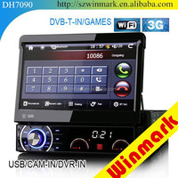 New design one din car dvd with GPS/FM/TV/AV/USB/SD/DVD and 7inch automatic touch screen DH7090