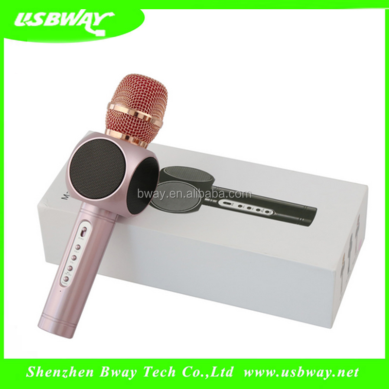 Home KTV Outdoor Party Muisc Playing bluetooth microphone with speaker and usb ktv machine android karaoke player