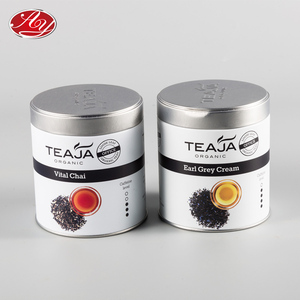Custom Printed Small Round Tea Tin Box