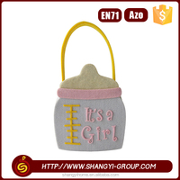 New products polyester felt baby birthday gift packaging custom tote bag