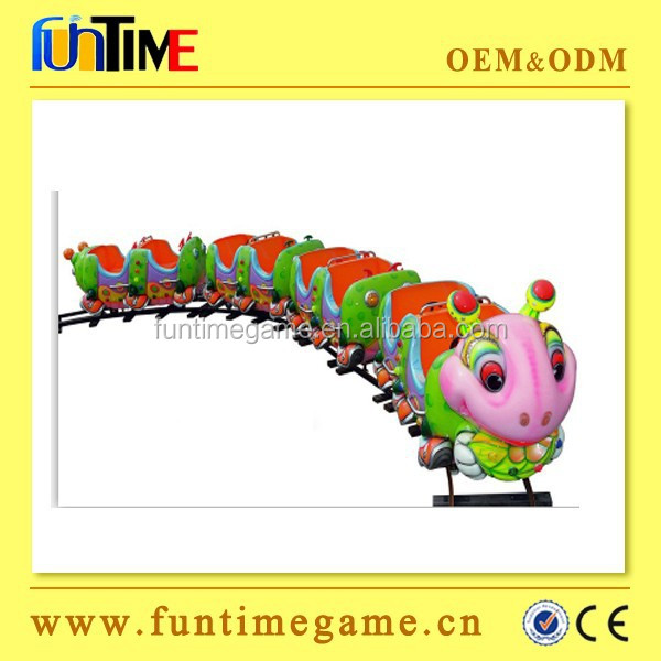 Funtime Hot sale Kiddie Rides Electric track train outdoor playground track on train