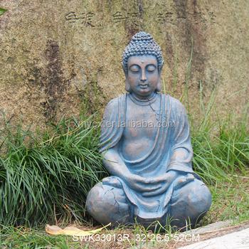 Attractive Meditating Religious Garden Decor Sculpture Stone Buddha Statues