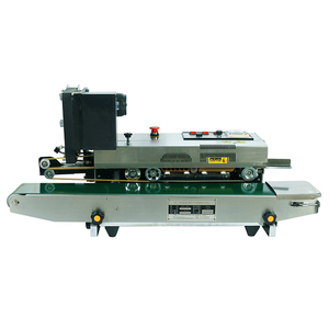 China plastic film sealing machine continuous bag sealers with date printing