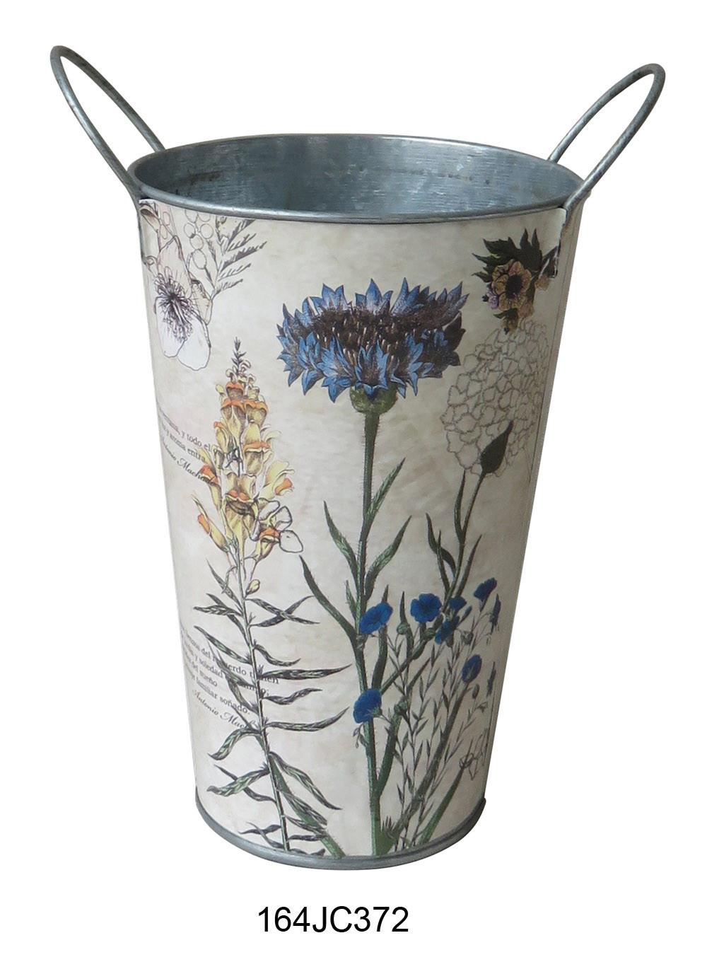 Popular design metal flower vase fancy flower pot box for Fancy flower pots