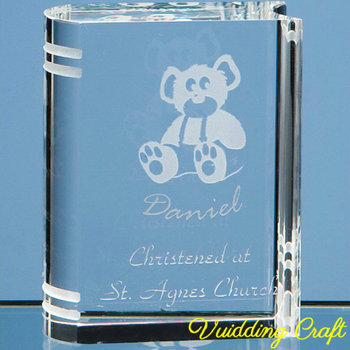 Special Design Crystal Book Shaped Paperweight Custom Engraved For Study Gift