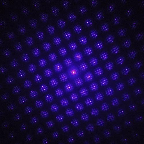 พลังงานสูงที่มีประสิทธิภาพ2in1สีฟ้าปากกาเลเซอร์5มิลลิวัตต์สีม่วงสีฟ้าเลเซอร์ที่มีหมวกดาว