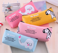 Latest animal pu leather pencil case , pencil bag made in china