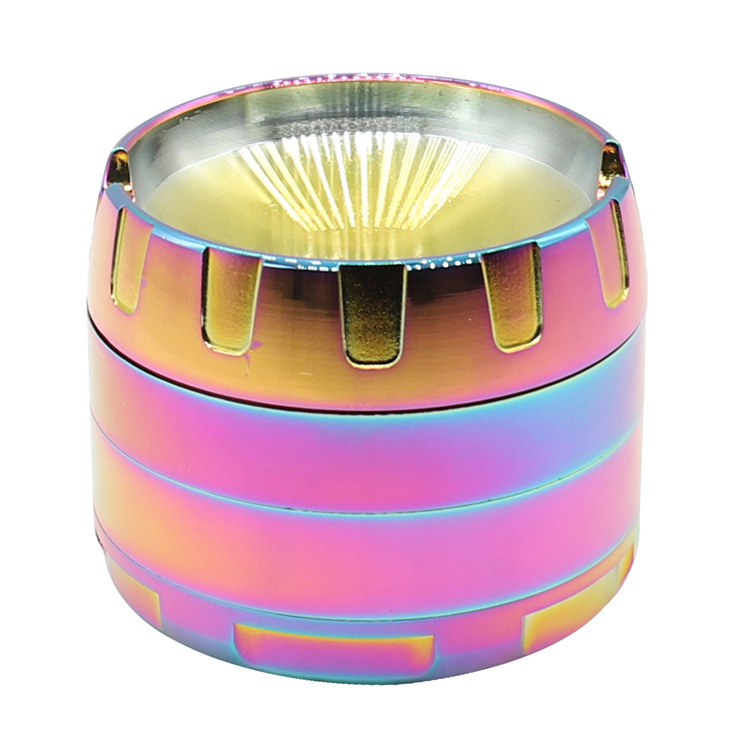63mm unfilled corner metal camber concave 4 layer tobacco grinder