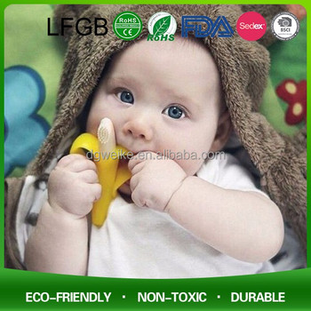 BPA Free Food Grade Silicone Baby Teether Baby's First Biscuit