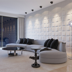European Style Interior wholesale 3D Wall Panels Texture White Design PVC Home Wallpaper