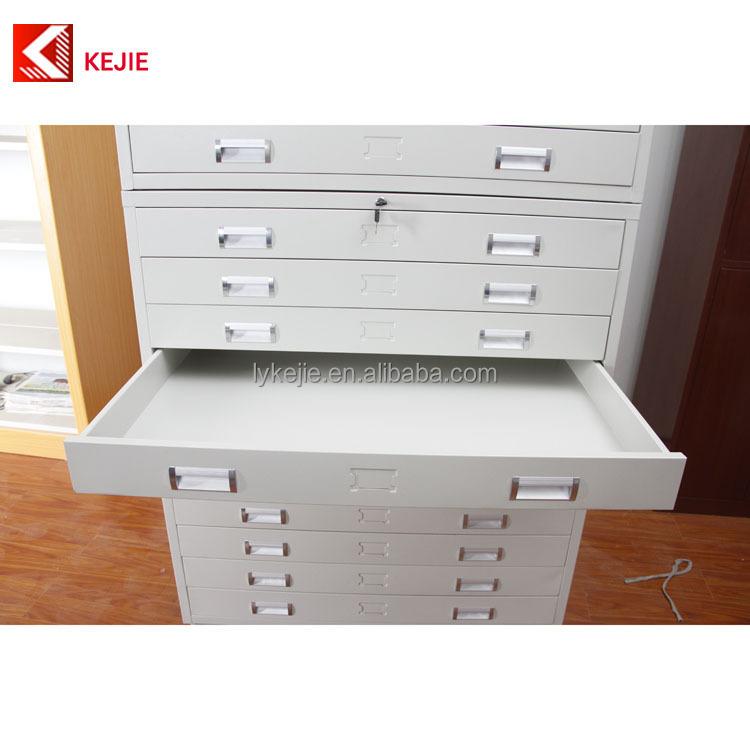 Usine vente plat plan classeur 5 tiroirs en acier plan for Les meubles a tiroirs plats