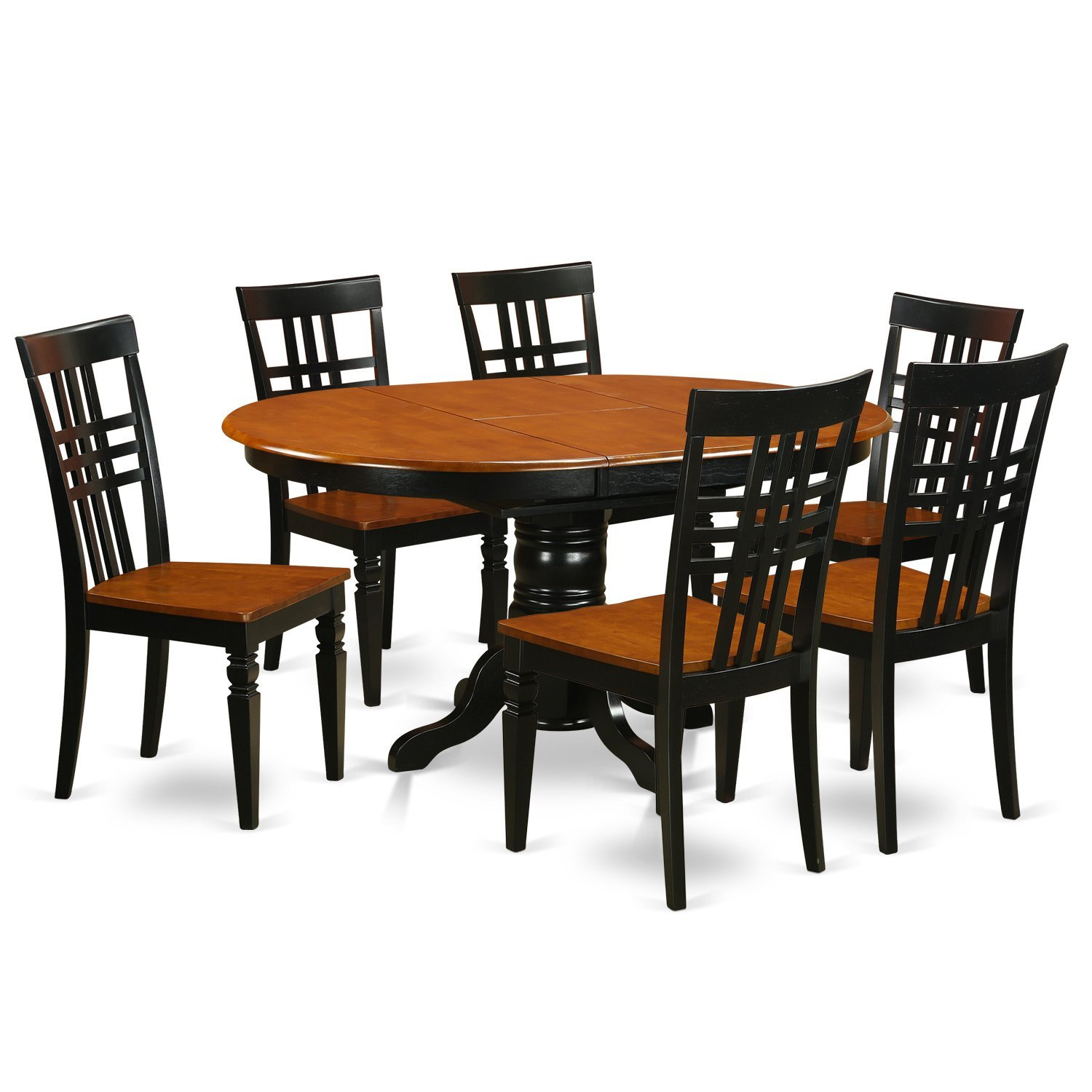 Get Quotations · East West Furniture KELG7-BCH-W 7Piece Dinette Set with One Kenley Table u0026  sc 1 st  Shopping Guide - Alibaba & Cheap Black Dinette Table Sets find Black Dinette Table Sets deals ...