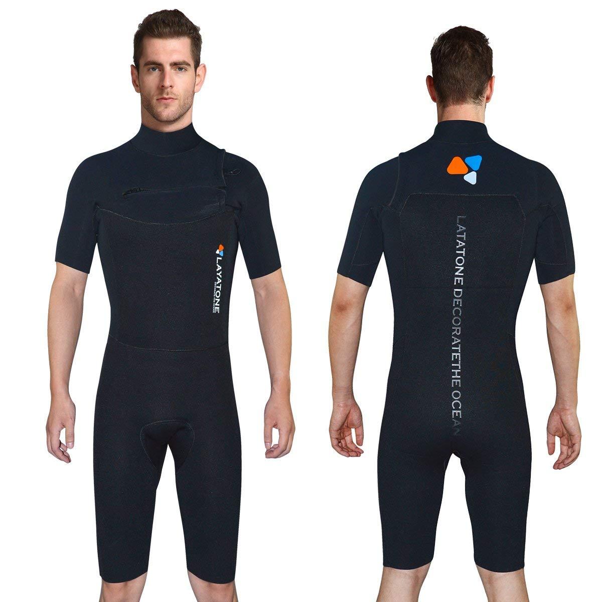 ad7de0d156 Get Quotations · ALEEYA 3mm Neoprene Shorty Wetsuits Men Women –LAYATONE  Diving Snorkeling Surfing Suit Short Sleeves Swimsuit