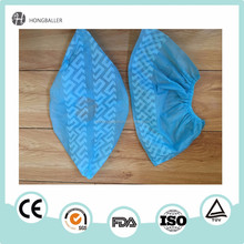 High quality laboratory blue disposable 3gsm CPE plastic shoe covers