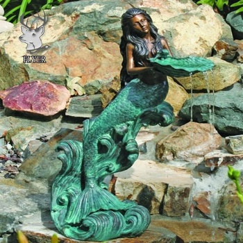 Merveilleux High Quality Life Size Garden Bronze Mermaid Statue Fountain