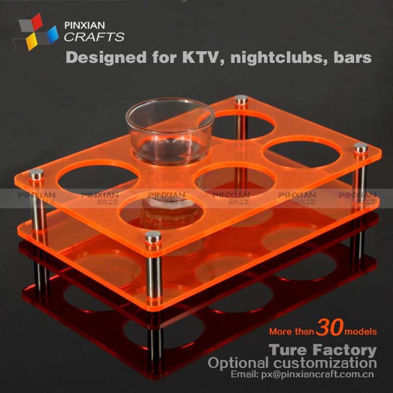 Personalizado 6 agujeros panel transparente naranja fluorescente ...