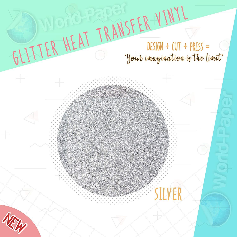 "Silver Glitter Heat Transfer Vinyl 10"" x 3 Yards :)"