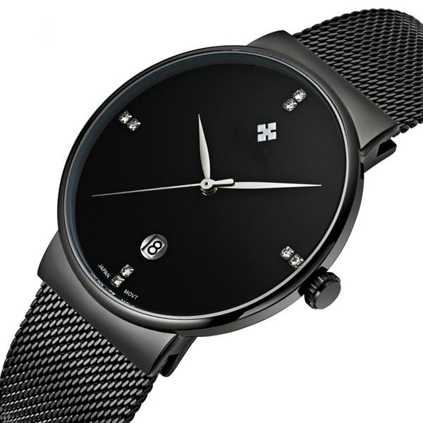 ที่กำหนดเองขายร้อนขายสแตนเลสกันน้ำนาฬิกาผู้ชายนาฬิกาข้อมือ