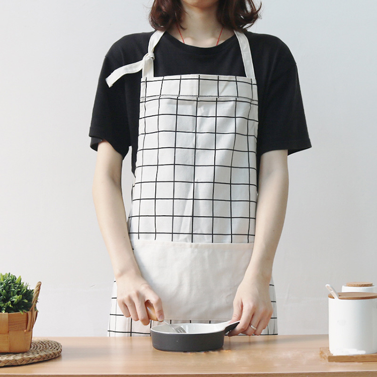 Japanese Style Adult Flower Shop Kitchen Baking Sleeveless Fabric for Apron