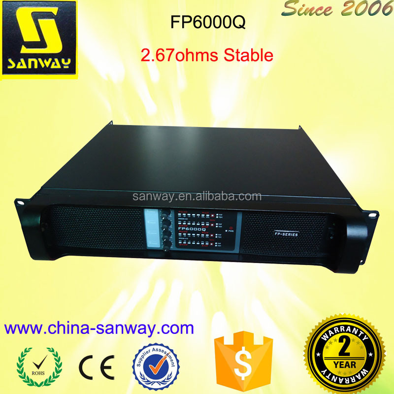 FP6000Q 4 channel 4 ohm Stereo Mixing Extreme Power Amplifier