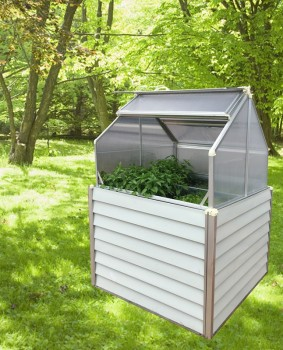 Plant Inn Compact Raised Garden Bed Greenhouse
