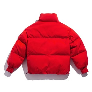 Winter red bubble puffer coat men crane down jacket
