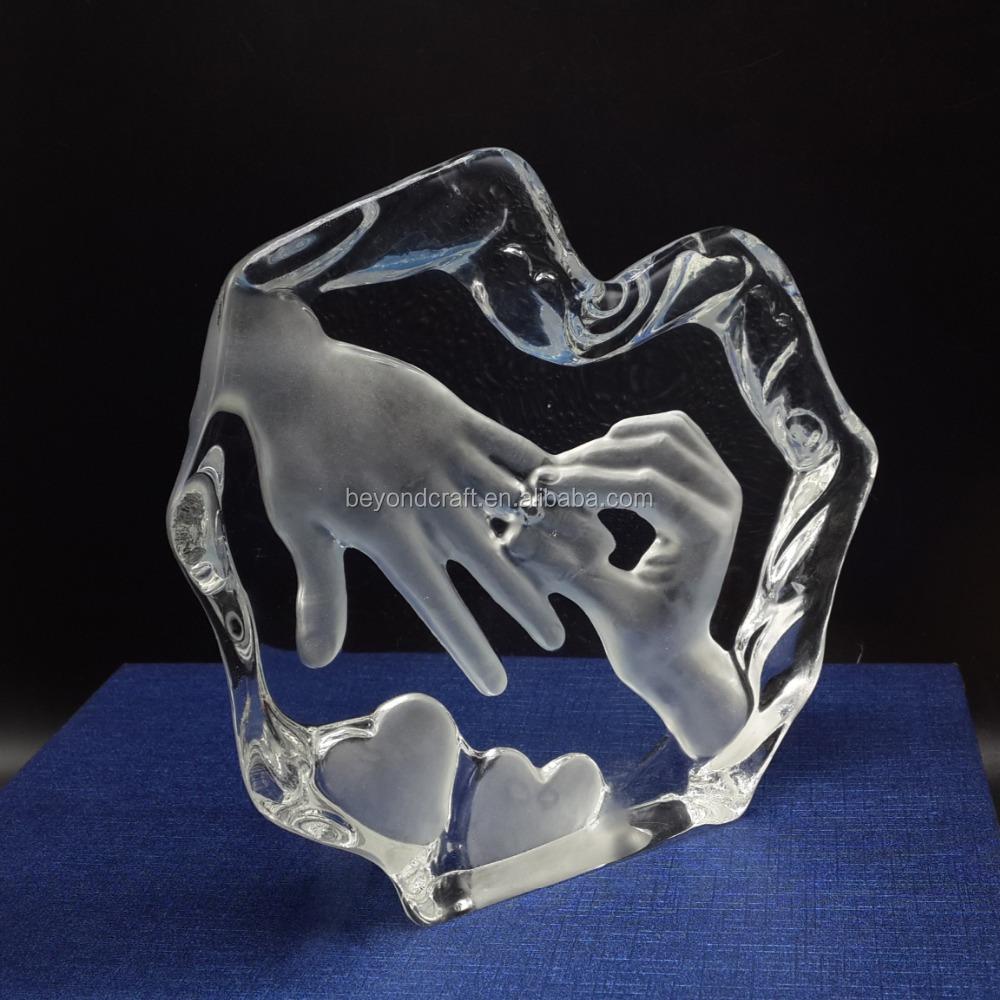 Populares Presentes do aniversário de casamento anel de cristal lembranças  HR68