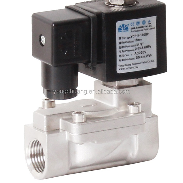 Buy cheap china pressure operated valve products find china yongchuang ycp11 ce approved pilot operated diaphragm ptfe air solenoid valve 24v for steam boiler ccuart Gallery