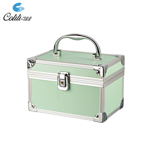 Wholesale Aluminum Train Cosmetic Box Empty Makeup Kit Case with Lock