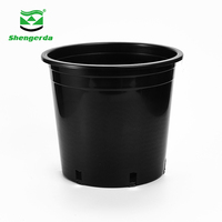 black plastic nursery trays square flower tree pots