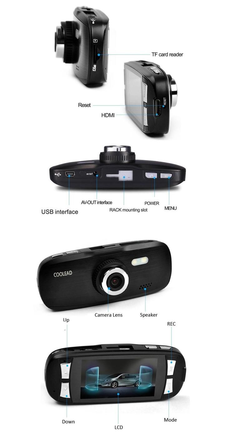 metal shell car dvr dash camera 1080 and g sensor car front camera car interior camera with loop. Black Bedroom Furniture Sets. Home Design Ideas