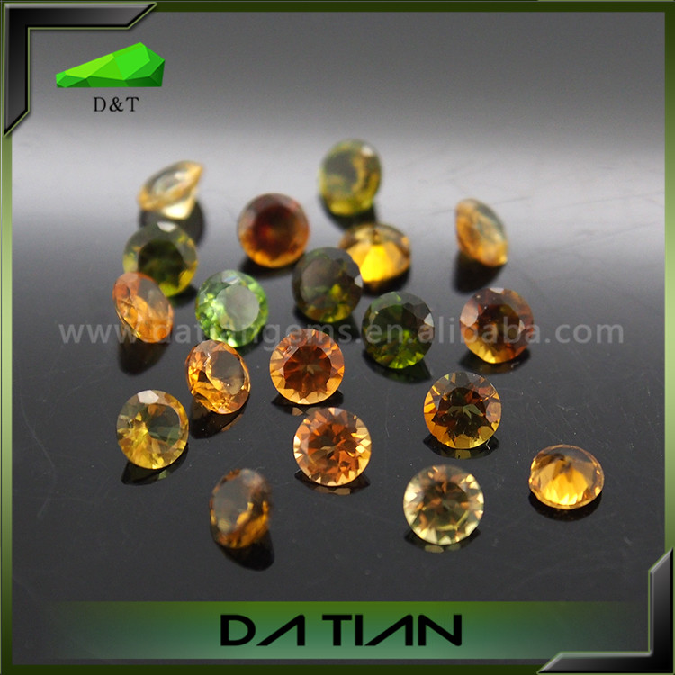 Natural gemstone good quanlity <strong>diamond</strong> cut mixture color tourmaline