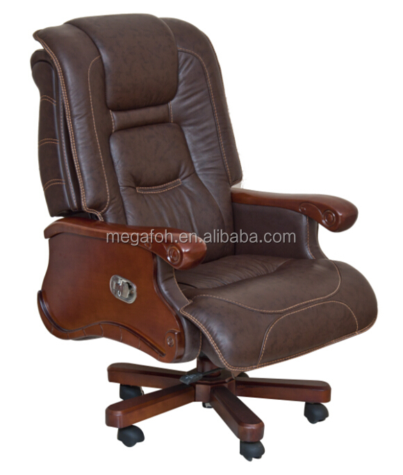 USA Florida Miami Antique Office Furniture Dark Brown Leather Executive  Chair (FOH B106)