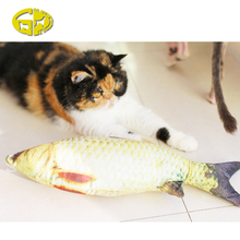 Promotional fun pet cat toys Simulated Animal Fish Toy Yellow Fish