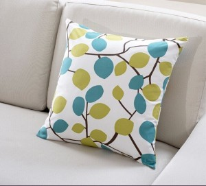 Litter tree leaf digital printing cushion, Mediterranean style pillow, fashion designer cushions