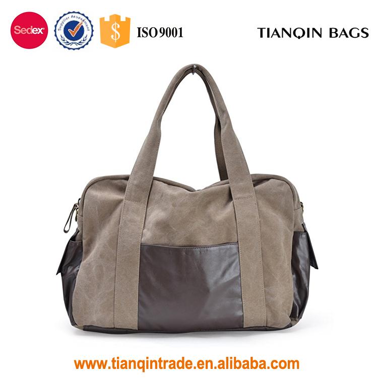 6e20035c9cd97 الترويجية قماش قدرة كبيرة حقيبة السفر الرياضة في الهواء مع الجانب جيب  للرجال والنساء