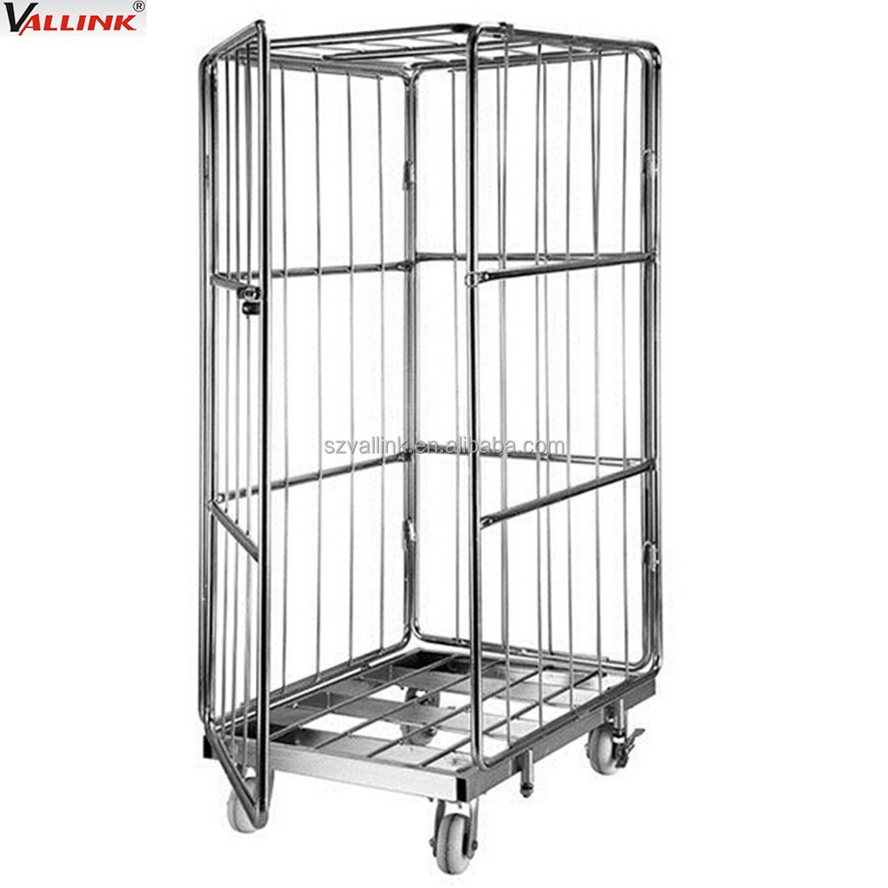 Foldable Mobile Rolling Wire Security Roll Cage - Buy Roll Cage,Wire ...