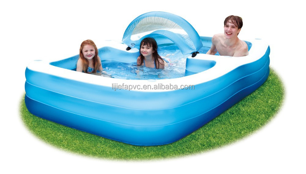Piscine gonflable familiale avec si ges for Piscine 2m44