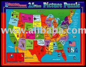 25 Pieces Usa Map Jigsaw Puzzle Wholesalepricepiece Buy 25 - Us-map-jigsaw-puzzle