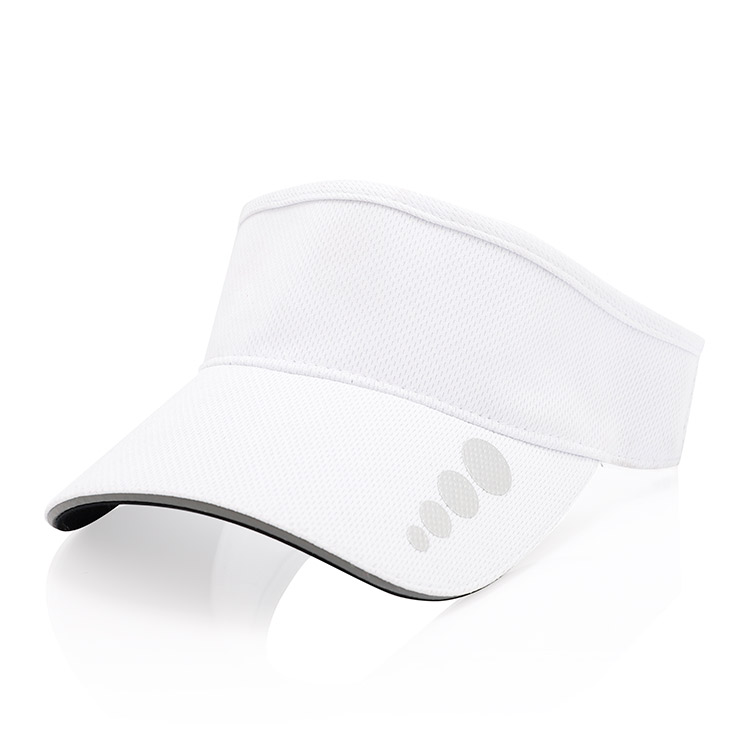 Factory custom logo design sports empty top hat 100% cotton sun visor cap