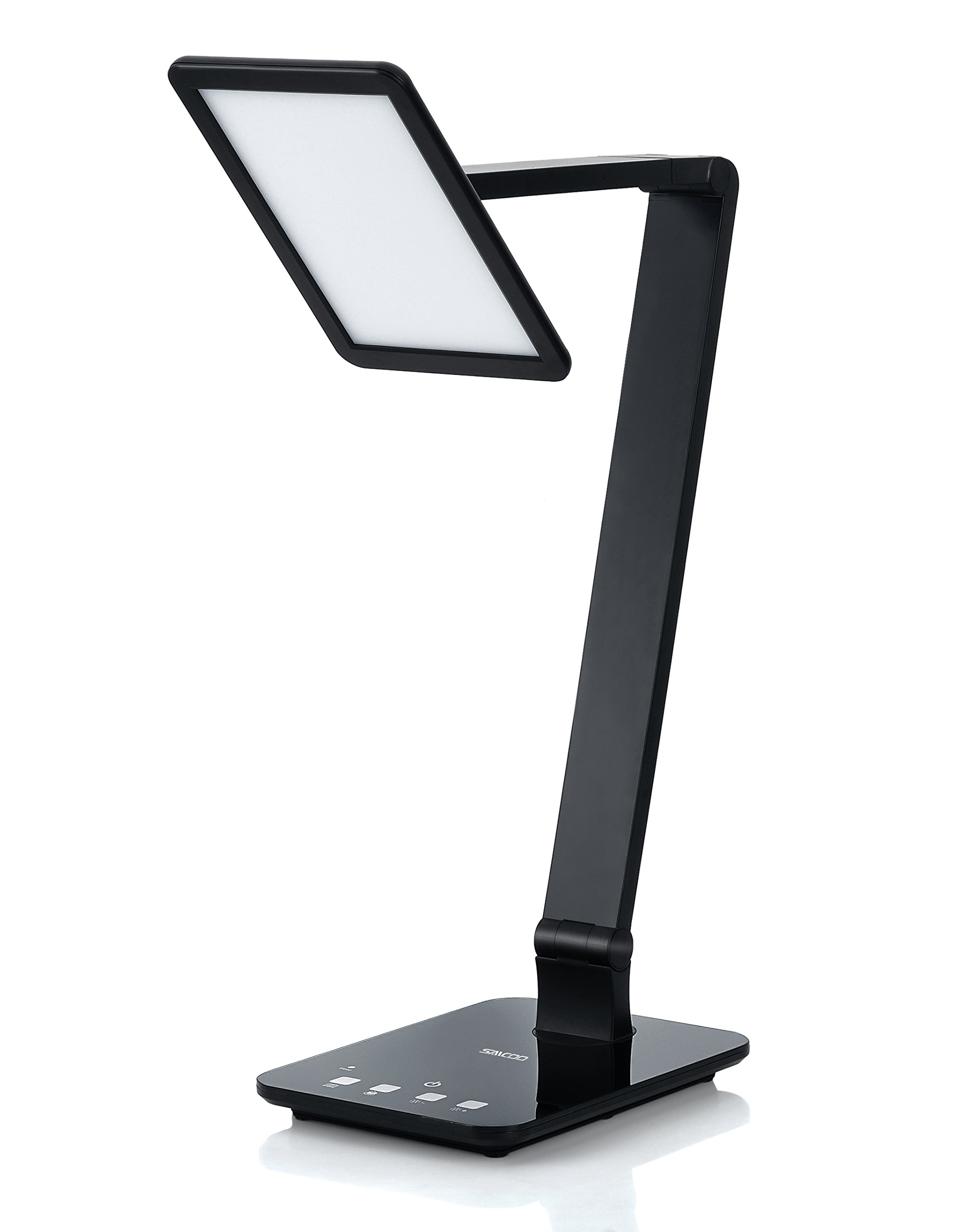 LED Desktop Lamp Saicoo Desk lamp with Large LED Panel, Seamless Dimming-Control of Brightness and Color Temperature, an USB Charging Port
