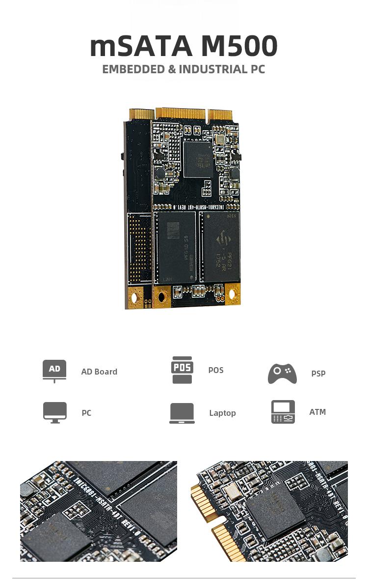 KingSpec Nhúng mSATA 480 gb 480 gb Mini Pcie Ssd Đĩa Cứng Trạng Thái Rắn Đĩa